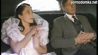 Невеста трахает отца в лимузине по дороге на свадьбу