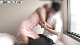 Японская пара практикует управлением оргазма