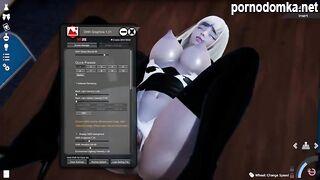 Красиво модифицированный хардкорный секс в офисе с блондинкой